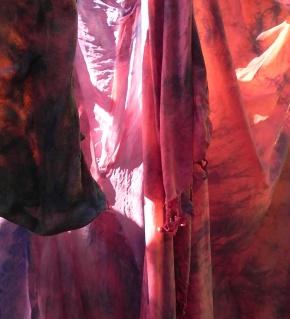madder with indigo, chestnut overlay before rinse/dry