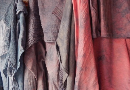 indigo, logwood & madder blends after rinsing/drying