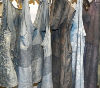 indigo-dyed linens for summer