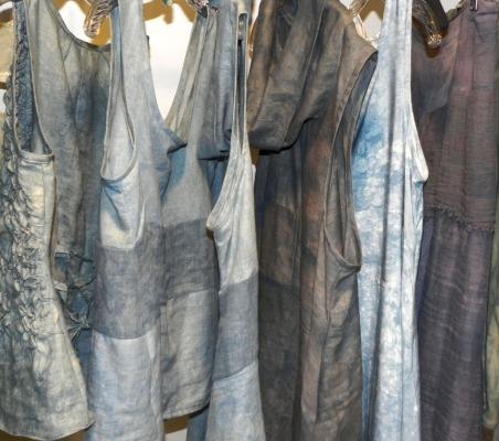 indigo-dyed linens for summer