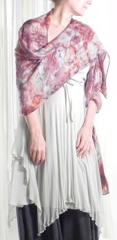 Custom hand-dyed silk scarf