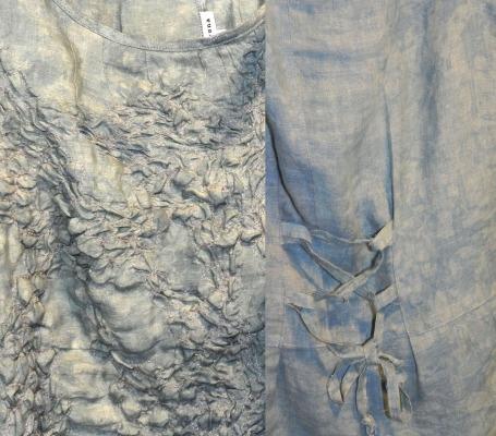 textured linen shell details