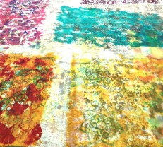 These are monopritns/transfers from the originally laid-down prints